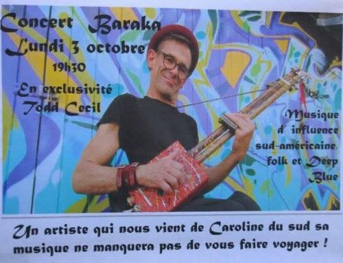 Concert Baraka – Lundi 3 octobre